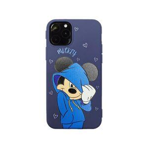 COQUE - BUMPER Coque iPhone 11,Disney Bleu Mickey Antichoc Premiu