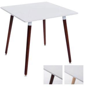 TABLE À MANGER SEULE CLP Table à manger BENTE, carrée, 4 pieds en bois,