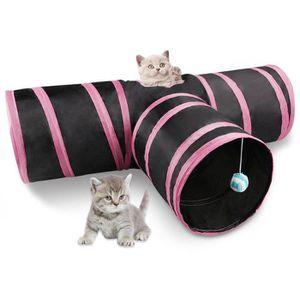 JOUET Tunnel de 3 Voies pour le chat Tunnel de jeu pliab