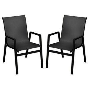 FAUTEUIL JARDIN  Chaise de jardin en aluminium Saint Barth - Lot de
