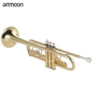 TROMPETTE ammoon Trompette Bb B Flat en laiton Peint Exquis