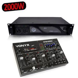 TABLE DE MIXAGE Vonyx STM2290 Table de mixage 8 canaux, Effets Sou