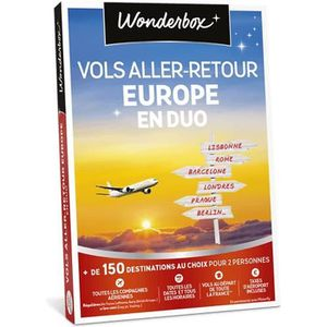 COFFRET SÉJOUR Vols aller-retour  Europe en duo - Wonderbox - Plu