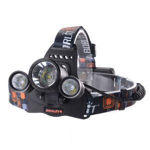 LAMPE FRONTALE MULTISPORT Lampe torche frontale à LED 3x CREE XM-L T6 LED 60