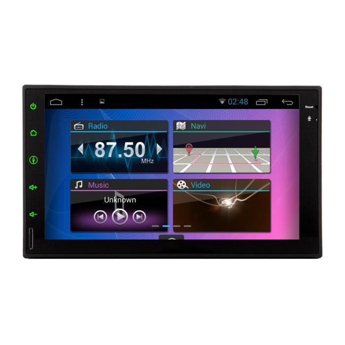 7- Autoradio 2Din 1024 * 600 Android 5.1 Tablet PC voiture Tap 2 din Universal Pour Double Din Navigation GPS BT Lecteur Audio