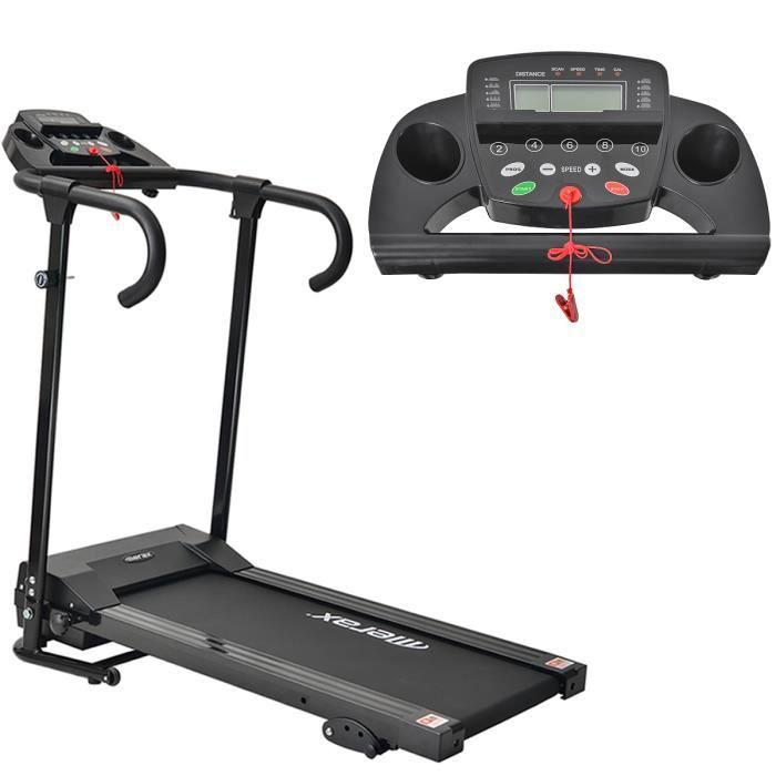 Tapis roulant Merax, Tapis de Course Pliable - 12 procédures - Ecran LCD - Inclinaison -10 km/h - 500W