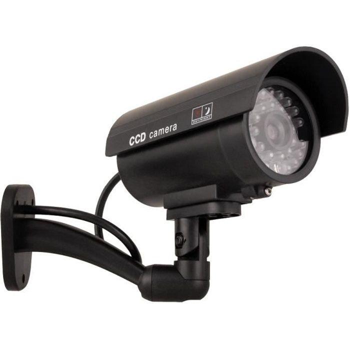 Caméra factice IR9000 LED rouge clignotante Imitation réaliste Étanche