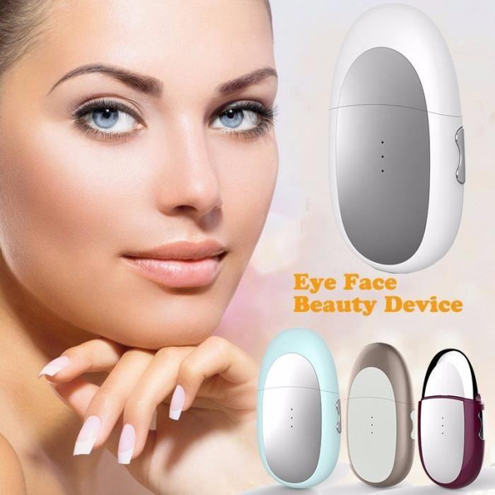 APPAREIL DE MASSAGE MANUEL,Mini masseur électrique pour les yeux chaud vibration ionique anti yeux sac anti rides cosmétique oeil