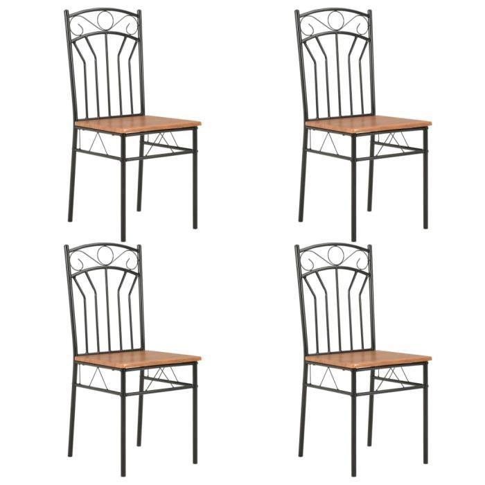 ����9843Lot de 4 chaises de salle à manger - Style contemporain Fauteuil Industriel Cuisine 40 x 48 x 86 cm