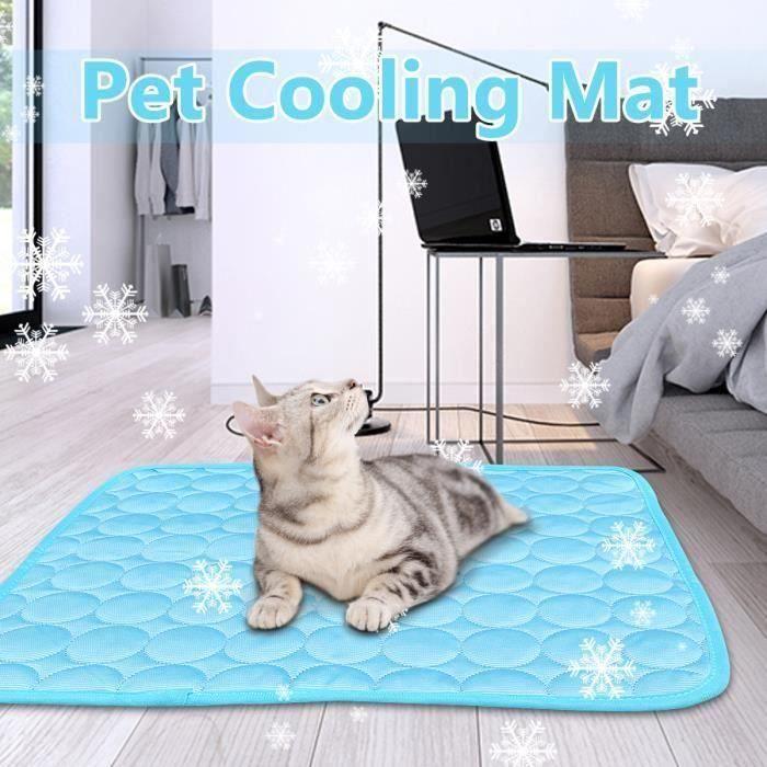 Portable Été Tapis Rafraîchissant Tissu Chien Chat Cool Confort 50X40CM Aw73258