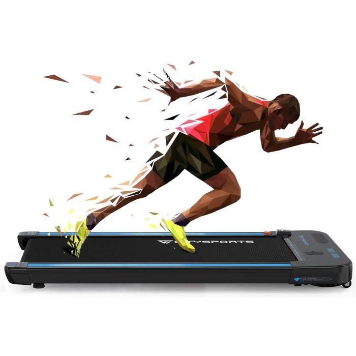 CITYSPORTS Tapis de Course Electrique WP2, Bluetooth Haut-parleurs Intégré, Vitesse Réglable, Écran LCD, Ultra Fin et Silencieux