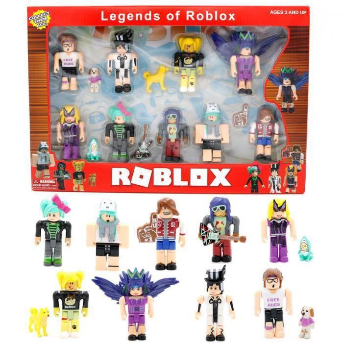 9 pcs / ensemble ROBLOX Monde Building block poupée Garçons Enfants Jouets jugetes Figurines Collection Figuras Cadeaux