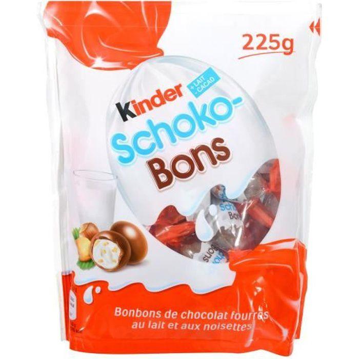KINDER Bonbons chocolatés Schokobons fourrés au lait et noisettes - 225 g