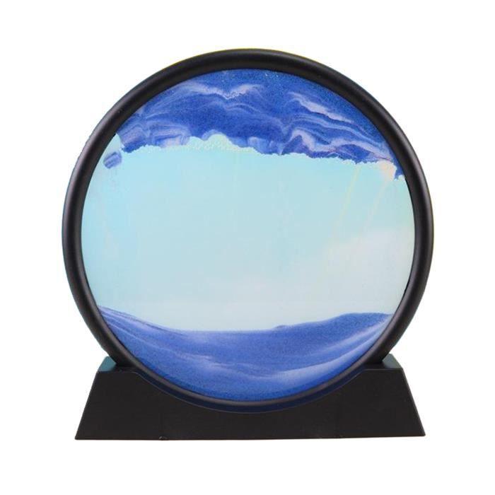 Sables mouvants Image, verre Qui Coule Sable Quicksand Peinture Sables Mouvants Art Sable-paysages en Mouvement de Bureau Art Bleu