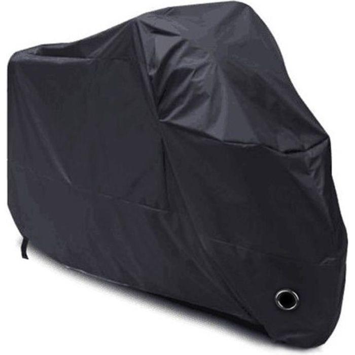 Bâche Moto, LIHAO Couverture de Protection Imperméable en Polyester 190T pour Moto, Scooter, Taille: XL, Couleur: Noir