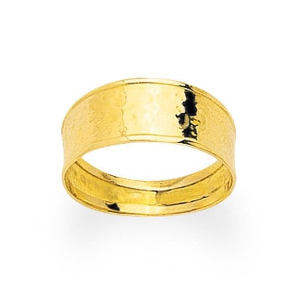 YSORA - Bague en or jaune ruban poli. Largeur 7mm en Or Jaune - POINÇON : Or Jaune - 750/1000