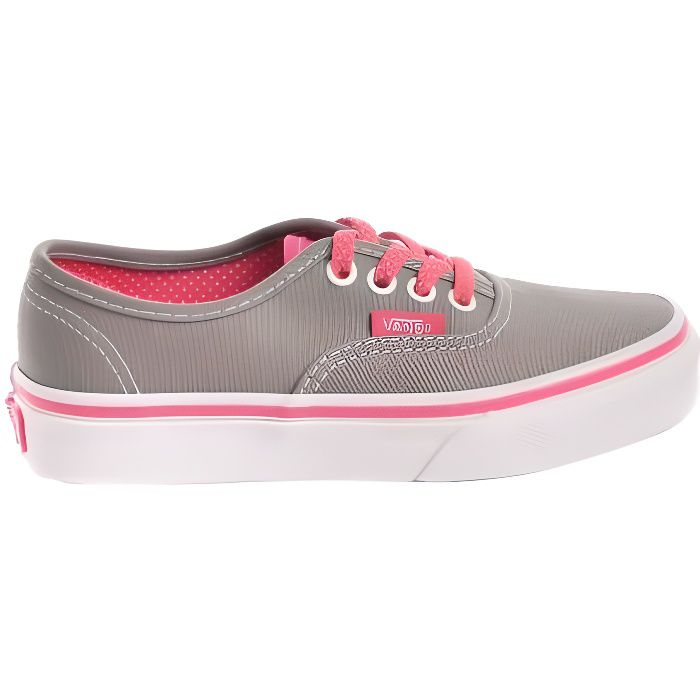 VANS Basket Authentic Gris/Rose - Enfant