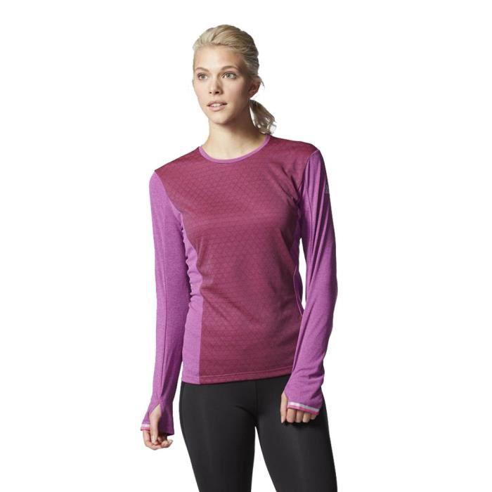 Adidas Supernova Climachill Femme T-Shirt Course À Pied Violet