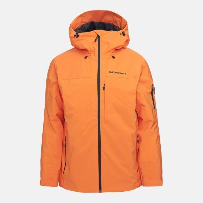 Veste De Ski/snow Peak Performance M Maroon Jacket Orange Altitude Homme