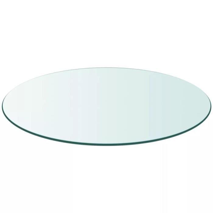 Dessus de table ronde en verre trempé 600 mm Plateau de table