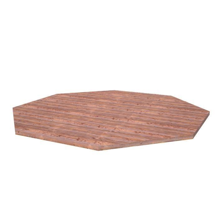 PALMAKO Plancher pour Gloriette Betty - 18 m² - Marron