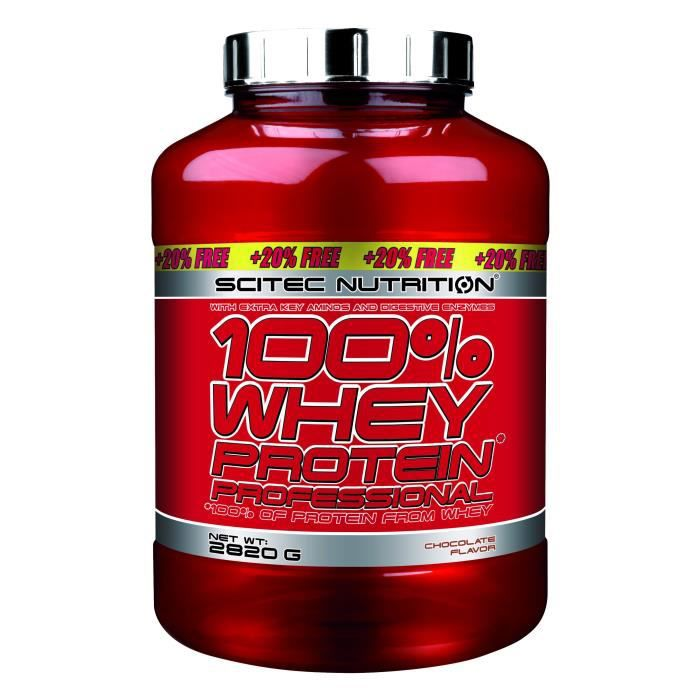 100% Whey Protein Professional 2820g CHOCOLAT Edition 20% OFFERT - Musculation