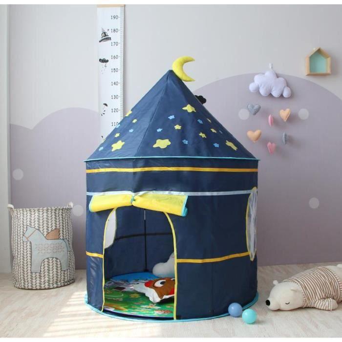 TEMPSA Tente de Jeu enfant maison château jeux Activité Hauteur 135cm Diamètre 105cm BLEU