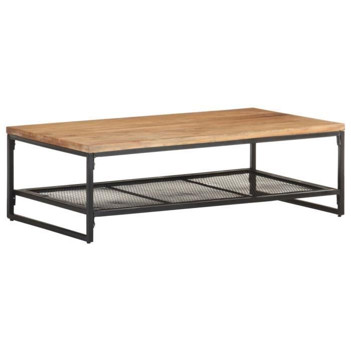 vidaXL Table basse 110x60x35 cm Bois d'acacia massif