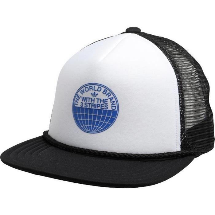reputable site wholesale outlet shades of Casquette Homme Adidas Originals Pro Trucker Blanche et Noire