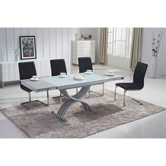 Table basse design relevable extensible plateau en verre - Table relevable design ...