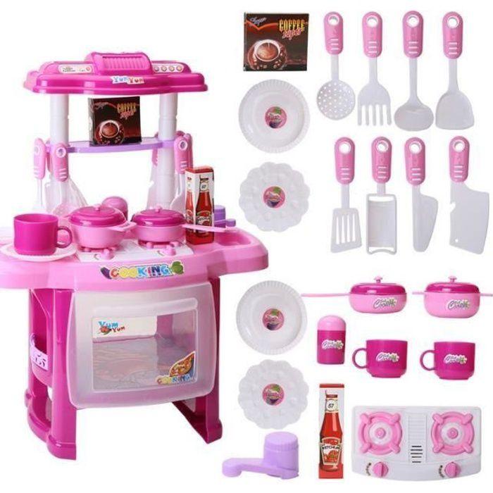 Rose Kit Jouet De Cuisine Pour Enfant Fille Simulation Ensemble De