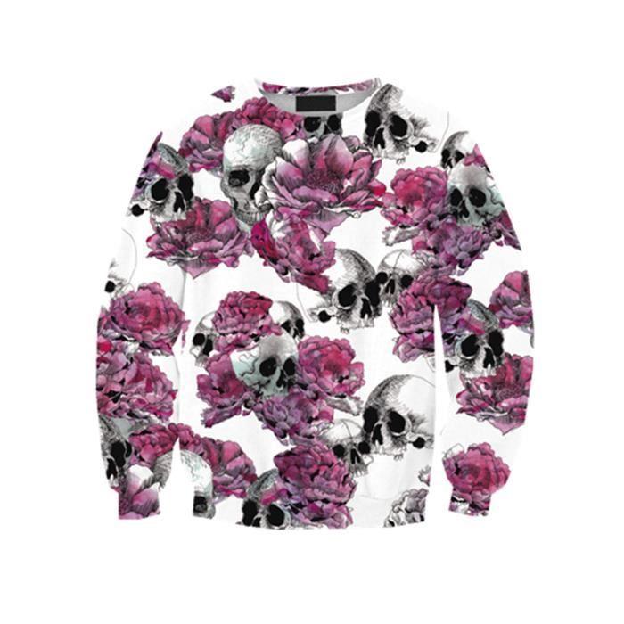 SWEATSHIRT Femme Tops de Loisir T-Shirts Pull-over Fin Sweate