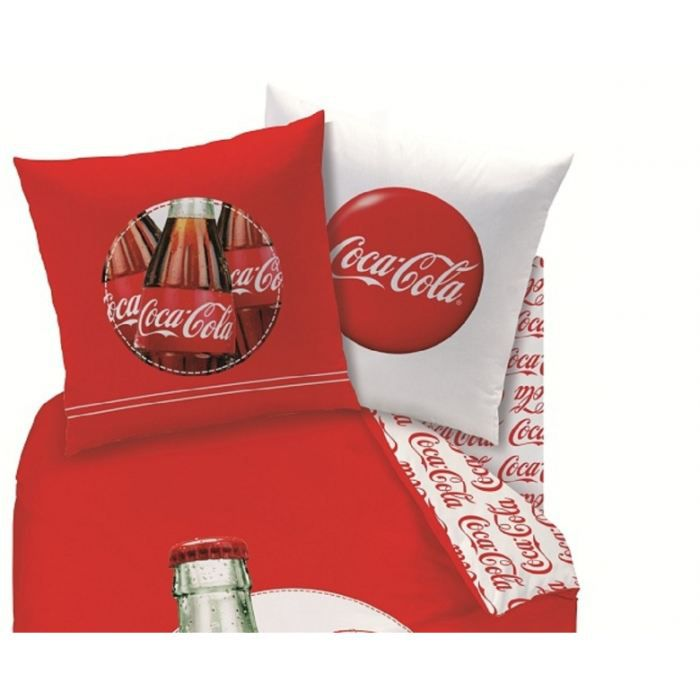 coca cola drap housse 140 x 190 cm assorti achat. Black Bedroom Furniture Sets. Home Design Ideas
