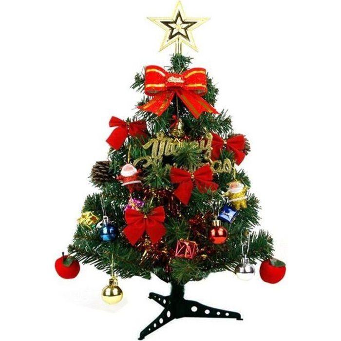 Arbre de Noël décoré, Table Top Arbre de Noël Mini Sapin de Noël