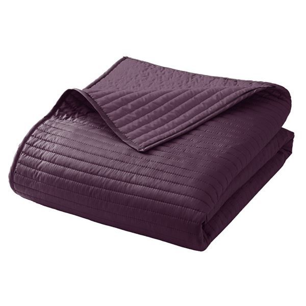 boutis couvre lit microfibre stitch violet achat vente jet e de lit boutis cdiscount. Black Bedroom Furniture Sets. Home Design Ideas