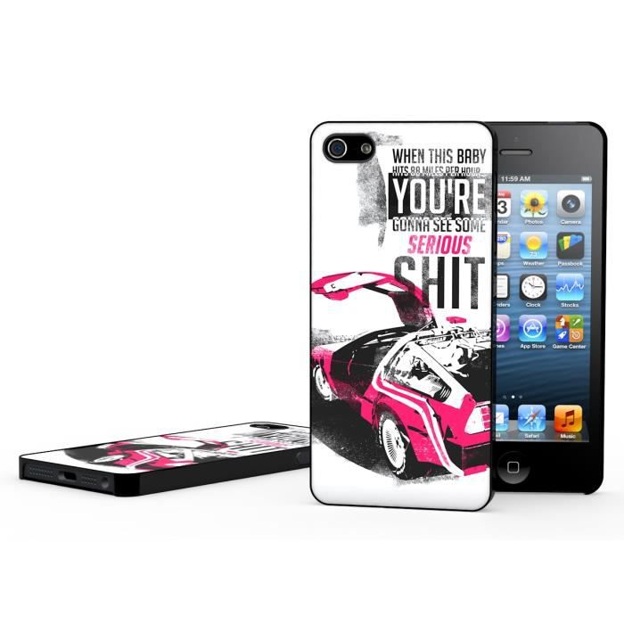 coque iphone 5 5s back to the future modele 2