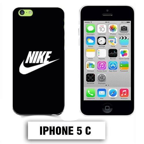 coque iphone 5c logo nike noir