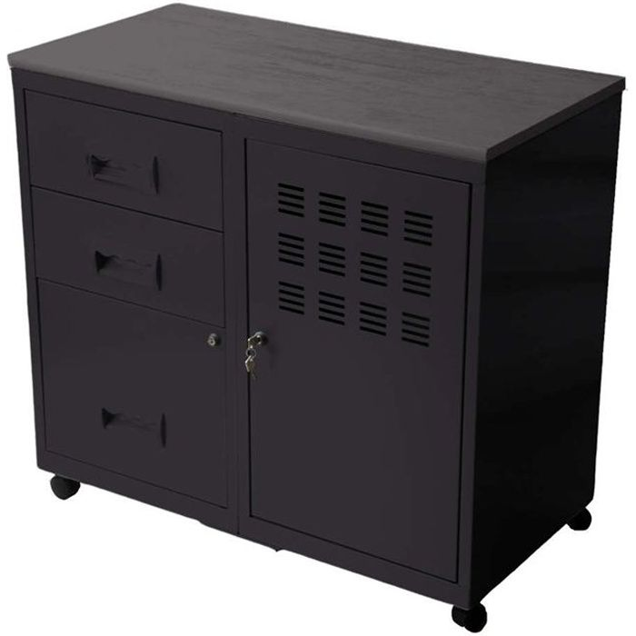 armoire en metal 1 porte 3 tiroirs achat vente petit meuble rangement armoire 1 porte 3. Black Bedroom Furniture Sets. Home Design Ideas