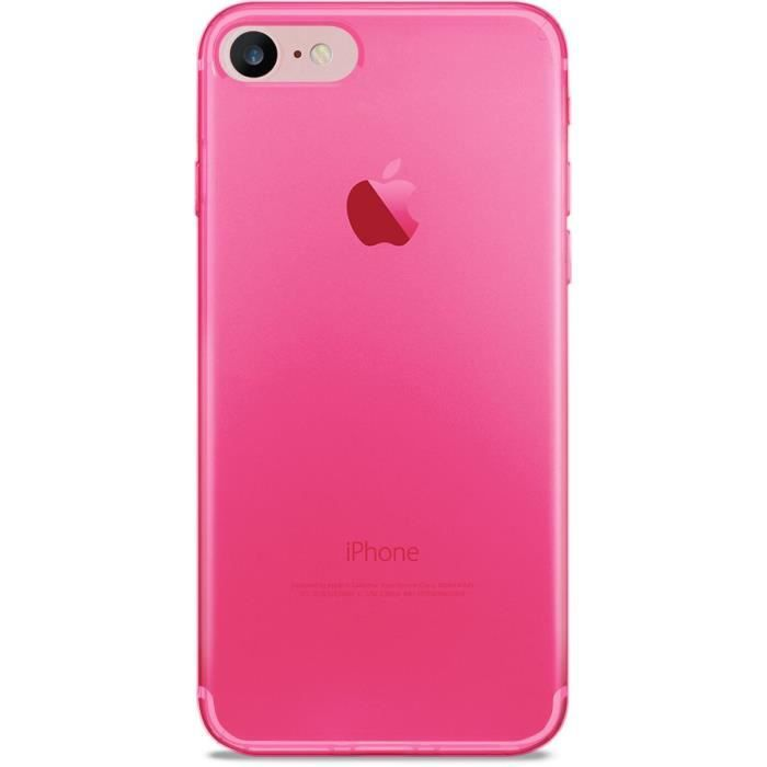 coque iphone 7 4 7 rose fluo ultra slim 0 3 nude