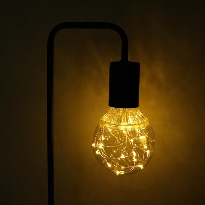 Rétro Vintage DEL Globe 1 W Edison Style Lampe à Incandescence Ampoule BC B22 Blanc G125
