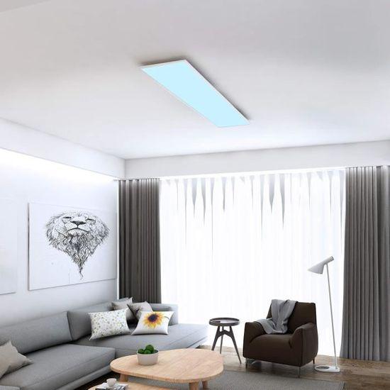 Briloner Leuchten 7196-016 Plafonnier LED en m/étal Blanc 36 W