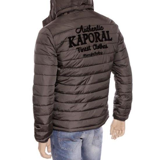 doudoune Benti gris Kaporal à capuche Homme hiver 2016 Blouson RLq54Aj3