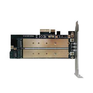 CARTE CONTROLEUR Bureau Dual Port NGFF M.2 B + M SSD PCI Express cl
