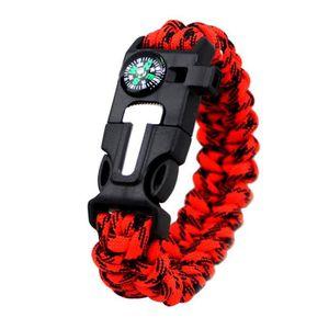 Paracord Bracelet avec Boussole intégré et pipe olive ou noir Survival
