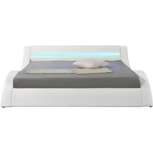 STRUCTURE DE LIT Hypnia - Lit Design LED blanc-180 x 200 (cm)