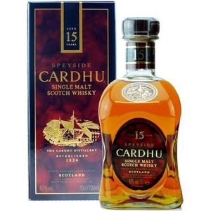 WHISKY BOURBON SCOTCH Cardhu 15 ans - Speyside Single Malt Whisky - 40%