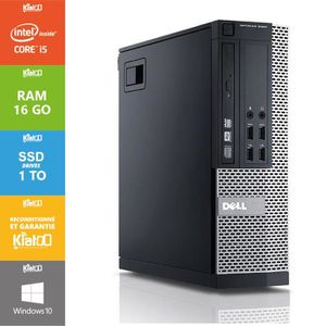 ORDI BUREAU RECONDITIONNÉ Pc bureau DELL OPTIPLEX 7010 core i5 16go ram 1TO