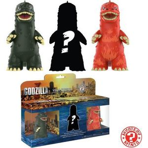 FIGURINE - PERSONNAGE Funko Mystery Minis Godzilla 3 Pack, Multicolor