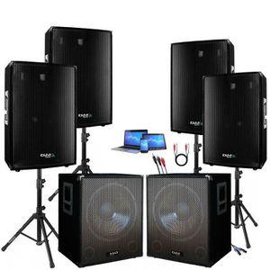 PACK SONO PACK SONO DJ AMPLIFIE 4000W de 2 CAISSONS + 4 ENCE