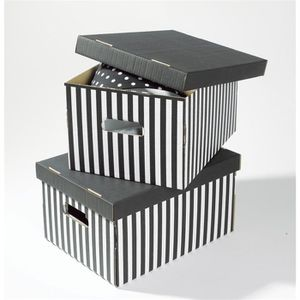 BOITE DE RANGEMENT SHIRT Lot de 2 boîtes de rangement - 40x31x21 cm -